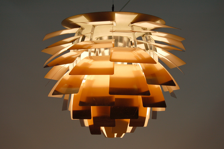 vintage artichoke ceiling lamp designed in 1958 by poul henningsen. Black Bedroom Furniture Sets. Home Design Ideas